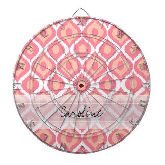 Modelo tribal geométrico retro rosado de Ikat del