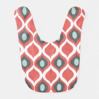 Modelo tribal geométrico rojo de la impresión de baberos
