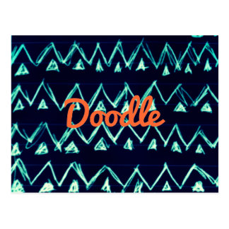 Modelo tribal loco del triángulo del zigzag del tarjetas postales
