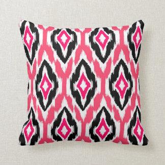 Modelo tribal negro fucsia rosado moderno 1a de almohadas