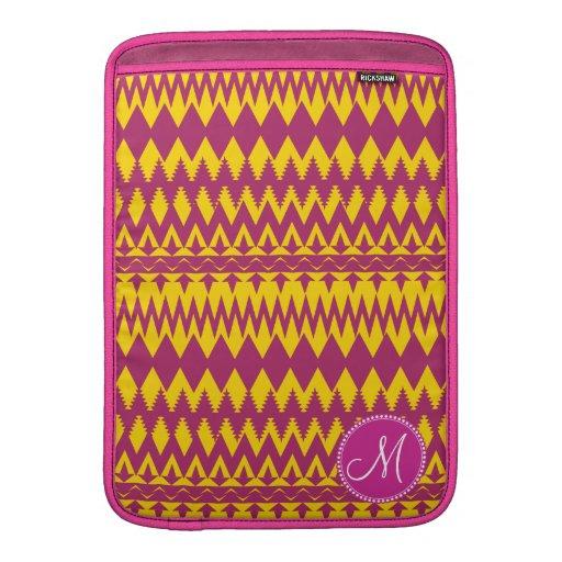 Modelo tribal personalizado personalizado del rosa fundas macbook air