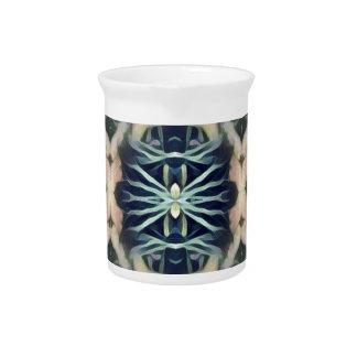 Modelo tribal poner crema azul artístico moderno jarras de beber