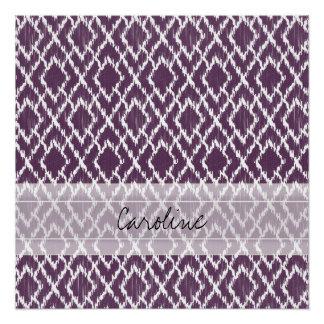 Modelo tribal púrpura del diamante de Ikat del Perfect Poster