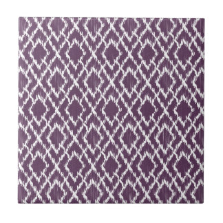 Modelo tribal púrpura del diamante de Ikat Geo de Teja Cerámica