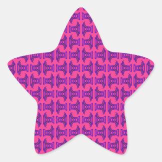 Modelo tribal púrpura rosado del palillo pegatina en forma de estrella