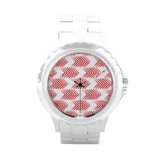 Modelo tribal rojo de la flecha relojes