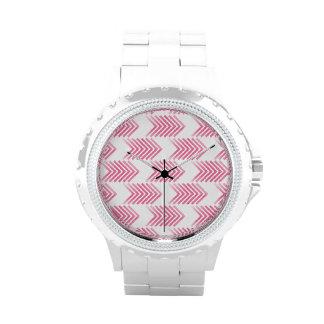 Modelo tribal rosado de la flecha relojes de mano