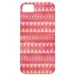 Modelo tribal rosado elegante del triángulo iPhone 5 funda