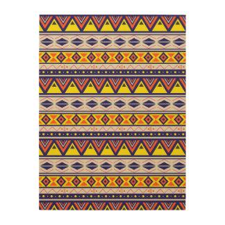 Modelo tribal terroso de la frontera impresión en madera