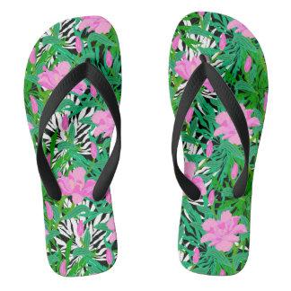 Modelo tropical con las flores de la selva
