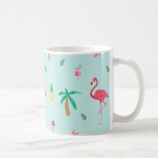 Modelo tropical de la turquesa del verano taza