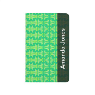 Modelo tropical de la verde lima brillante cuaderno grapado