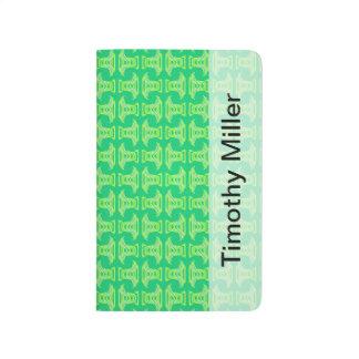 Modelo tropical de la verde lima brillante cuadernos
