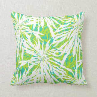 Modelo tropical de las hojas de palma almohadas