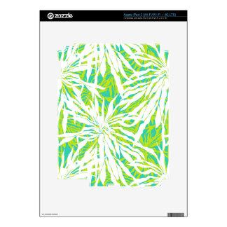 Modelo tropical de las hojas de palma iPad 3 skin
