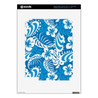 Modelo tropical del hibisco iPad 3 pegatinas skins