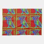 Modelo tropical del pájaro de Toucan de la diversi Toalla De Cocina