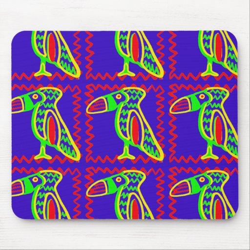 Modelo tropical del pájaro de Toucan de la diversi Tapete De Ratones