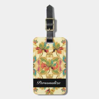 Modelo tropical del papel pintado floral del etiqueta de maleta