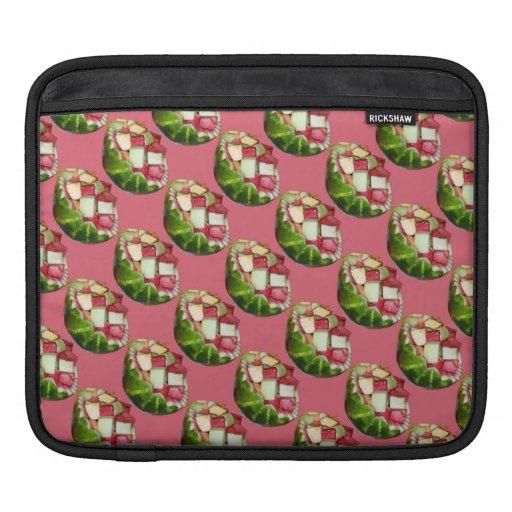 Modelo tropical del rosa de la ensalada de fruta d manga de iPad