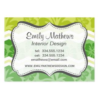 Modelo tropical lindo verde claro y amarillo plantillas de tarjetas personales