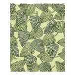 Modelo tropical verde de las hojas tarjetones