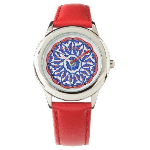 Modelo turco de la teja de la mandala relojes de pulsera