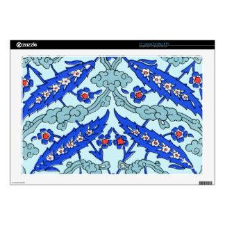 Modelo turco de la teja de las azules turquesas de skins para 43,2cm portátiles