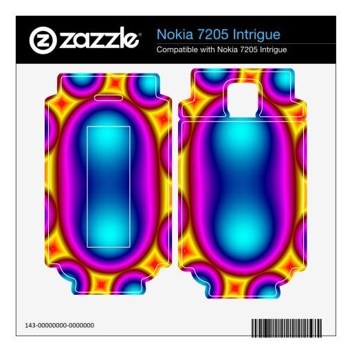 Modelo único colorido del círculo nokia 7205 intrigue calcomanía