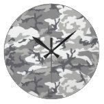 Modelo urbano de Camoflage en grises y blanco Relojes De Pared