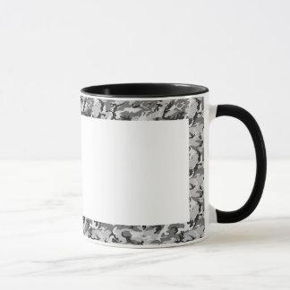 Modelo urbano del camuflaje - negro y gris taza