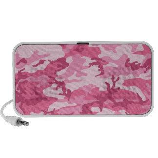 Modelo urbano rosado de Camoflage Mp3 Altavoces
