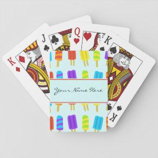 Modelo veraniego del polo de hielo de la diversión barajas de cartas