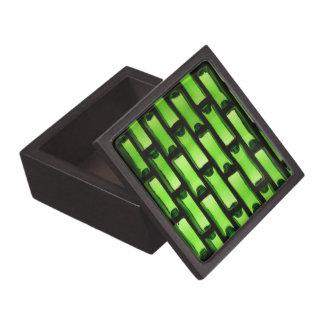 Modelo verde abstracto de la botella caja de regalo de calidad
