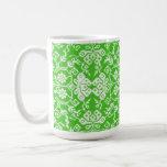 Modelo verde acolchado de la taza