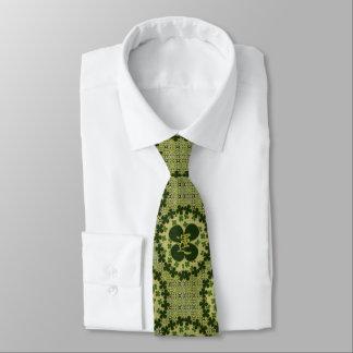 Modelo verde afortunado del trébol corbata personalizada