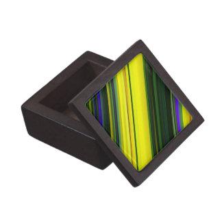 Modelo verde, amarillo, y púrpura diagonal cajas de regalo de calidad