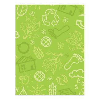 Modelo verde ambiental de Eco Tarjeta Postal