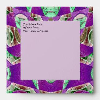 modelo verde blanco púrpura
