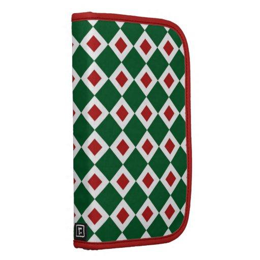 Modelo verde, blanco, rojo del diamante organizador