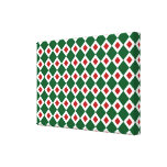 Modelo verde, blanco, rojo del diamante lona estirada galerias