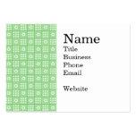 Modelo verde bonito del edredón de remiendo de la  tarjetas personales