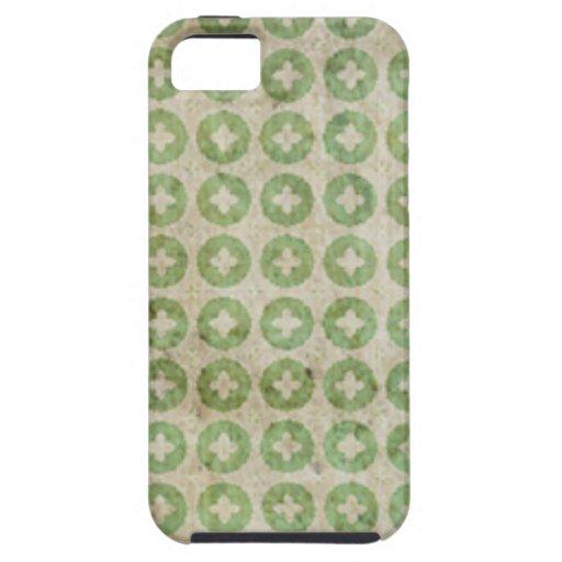 Modelo verde claro de la cruz del círculo iPhone 5 Case-Mate protectores