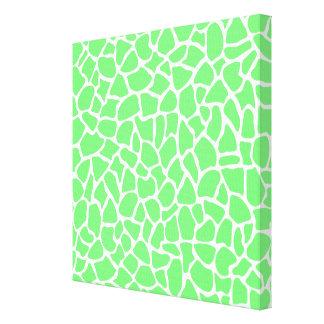 Modelo verde claro de la jirafa del estampado de a impresiones en lona estiradas