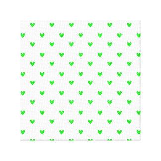 Modelo verde claro de los corazones del brillo lienzo envuelto para galerias