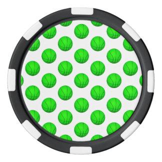 Modelo verde claro del baloncesto fichas de póquer