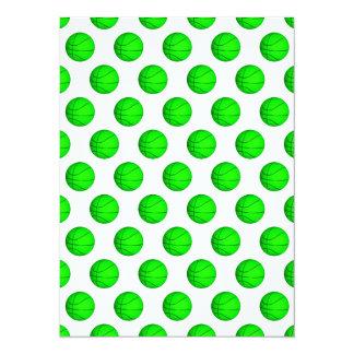 """Modelo verde claro del baloncesto invitación 5.5"""" x 7.5"""""""