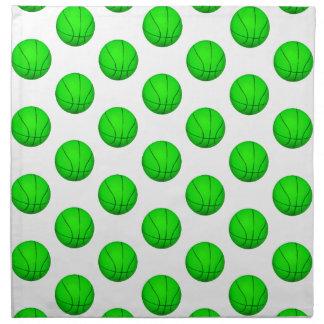 Modelo verde claro del baloncesto servilleta