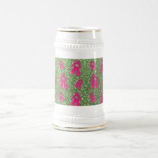 Modelo verde claro del brillo de los deslizadores  jarra de cerveza