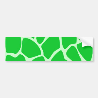 Modelo verde claro del estampado de girafa pegatina para auto